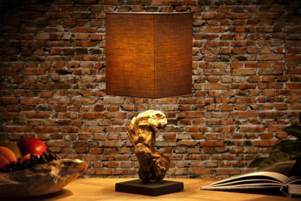 Stolní lampa ze dřeva -...