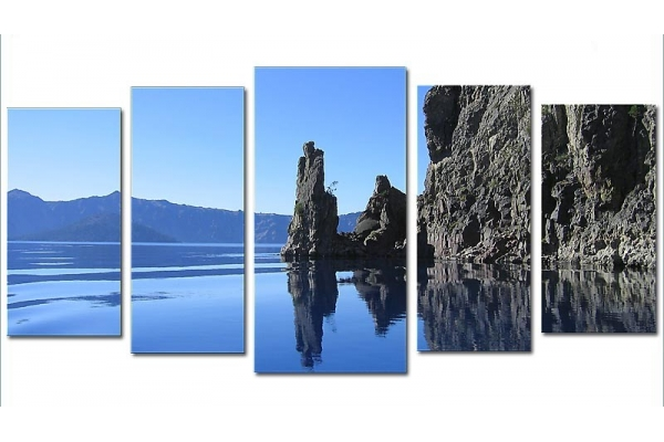 Obraz Skály u jezera