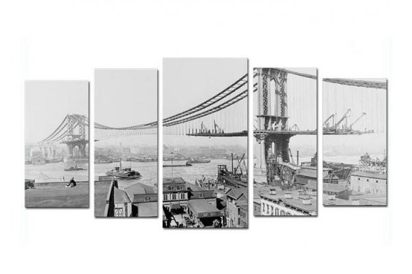 Obraz Stavba mostu