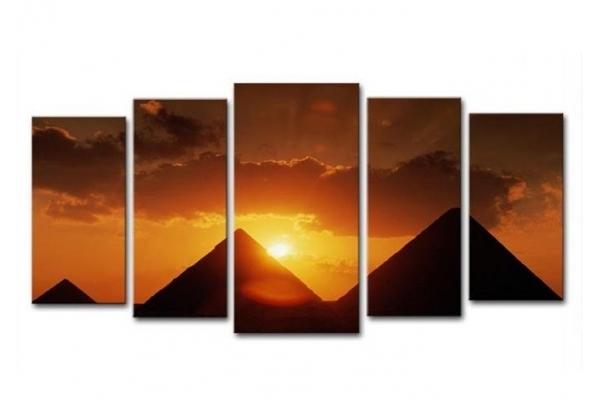 Obraz Západ nad pyramidami