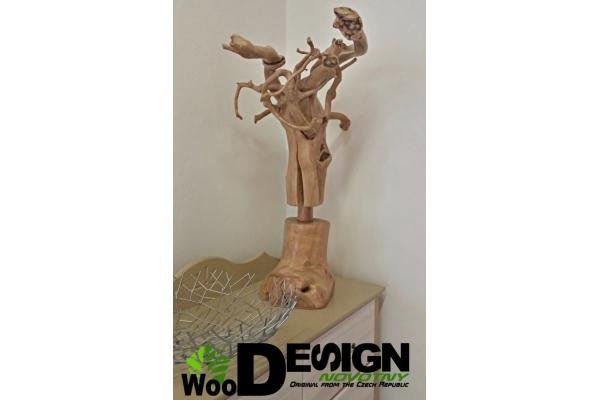 Dekorace Medúza WOOD dřevo...