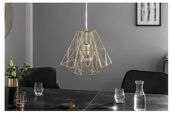 Závěsná lampa Cage S Gold