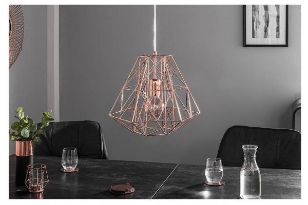 Závěsná lampa Cage S rosegold