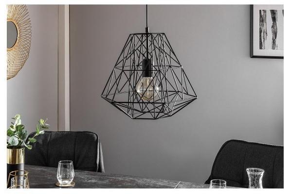 Závěsná lampa Cage S černá