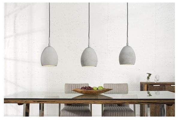Závěsná lampa Cement šedý 3 beton