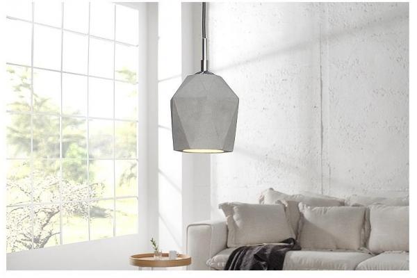 Závěsná lampa Cement Prisma šedá 15cm beton