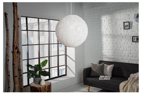 Závěsná lampa Cocooning bílá 35cm