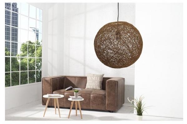 Závěsná lampa Cocooning přirozeně hnědá 45cm
