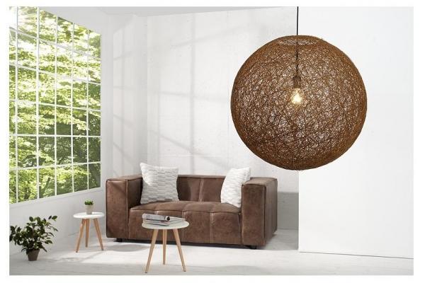 Závěsná lampa Cocooning přirozeně hnědá 60cm