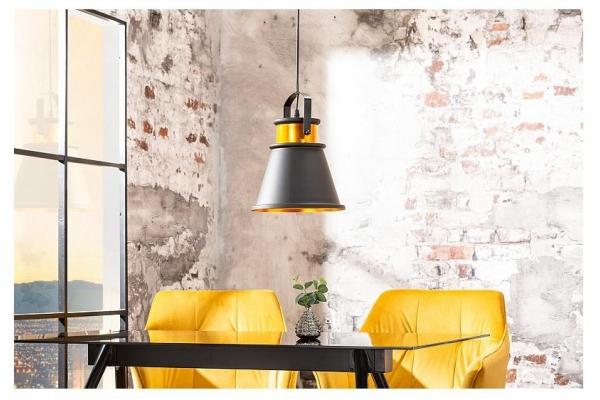 Závěsná lampa Luz II 25cm černá zlatá