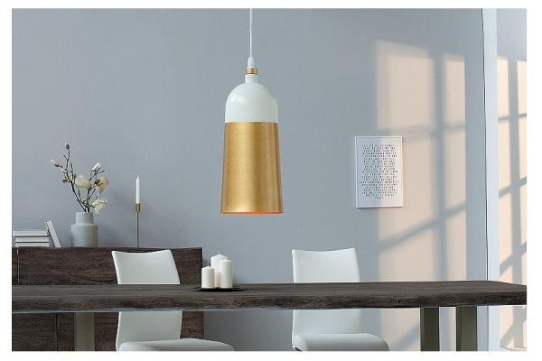 Závěsná lampa Modern Chic I bílé zlato