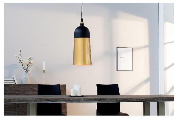 Závěsná lampa Modern Chic I 31cm černá zlatá