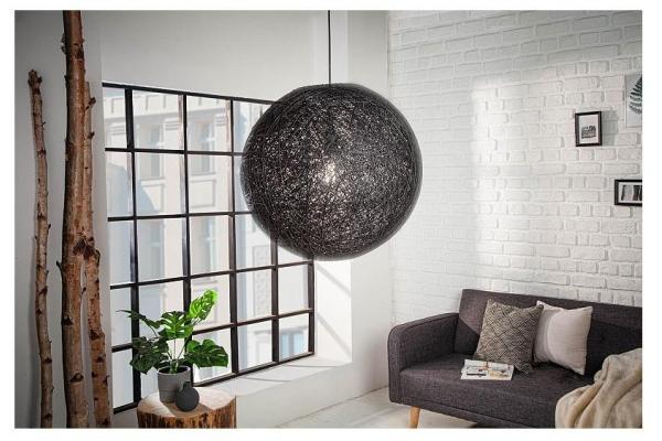 Závěsná lampa Cocooning černá 45cm