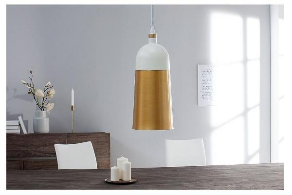 Závěsná lampa Modern Chic I 31cm bílé zlato