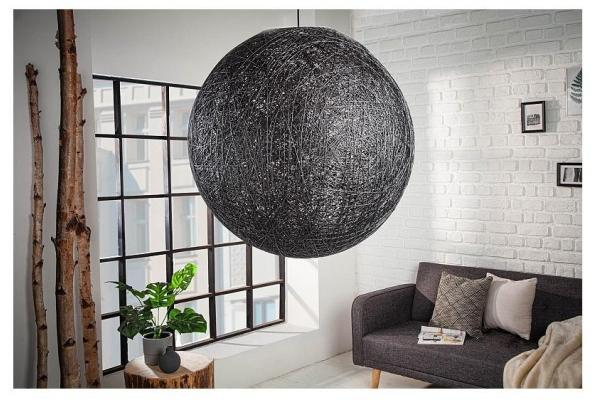 Závěsná lampa Cocooning černá 60cm