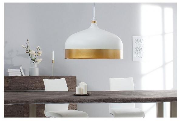 Závěsná lampa ModernChic II 33cm bílé zlato