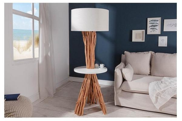 Stojací lampa servant dlouhé dřevo 153cm