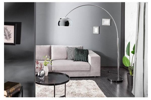 Stojací lampa Big Bow II chrom 170-205cm