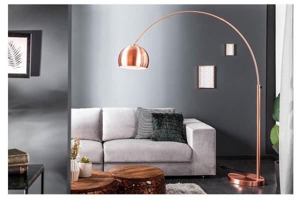 Stojací lampa Big Bow měděná 170-210cm