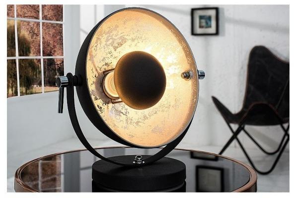 Stolní lampa studio černá stříbrná 40cm