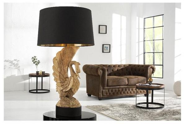 Stolní lampa Labuť akácie ruční práce