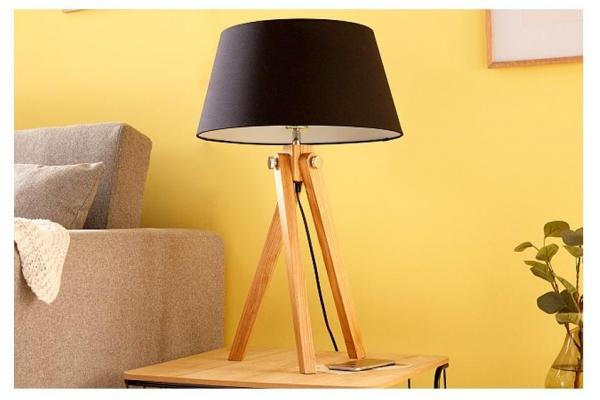 Stolní retro lampa stativ černá 64cm