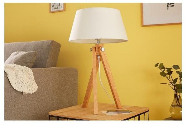 Stolní retro lampa stativ bílá 64cm