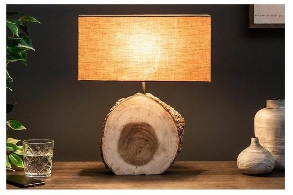 Stolní lampa čistá příroda ořech 45cm