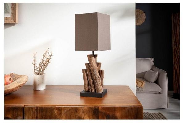 Stolní lampa čistá příroda železné dřevo 45cm