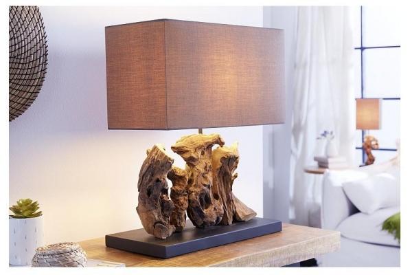 Stolní lampa v naplaveném dřevě Aragon