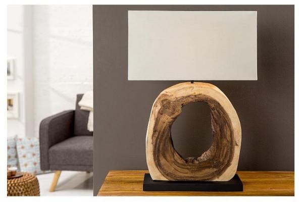 Stolní lampa v  naplaveného dřeva Cykle