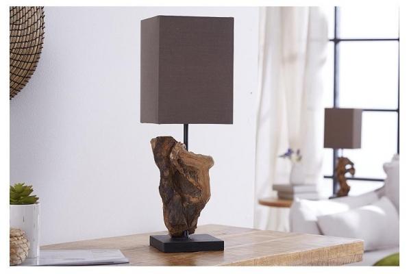 Stolní lampa z přírodního dřeva Hypnotic hnědá