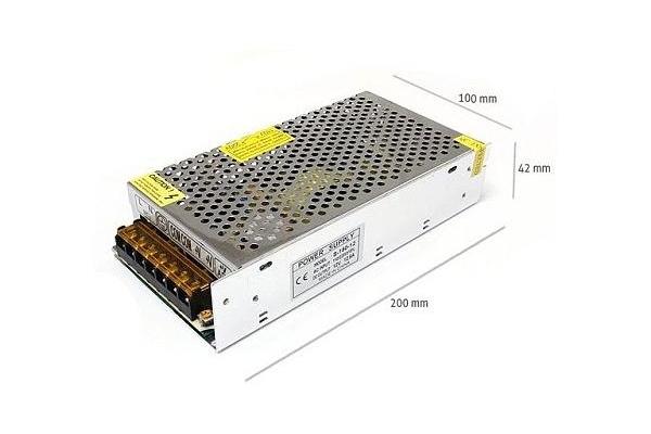 Napájecí zdroj pro LED pásky 12,5A 150W 12V DC plech