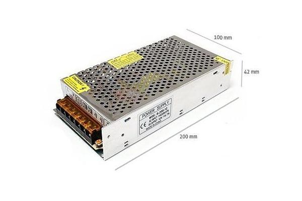 Napájecí zdroj pro LED pásky 15A 180W 12V DC plech