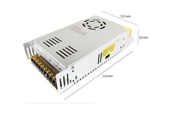 Napájecí zdroj pro LED pásky 30A 350W 12V DC plech