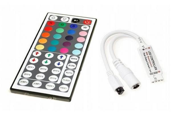 Dálkový IR ovladač k RGB LED pásku - 44 tlač