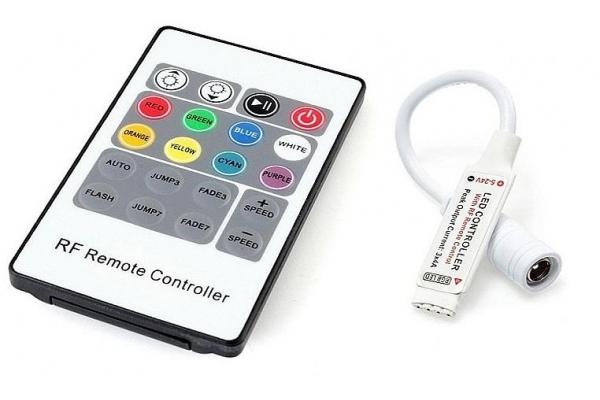 Dálkový ovladač k RGB LED pásku RF 20 tlač