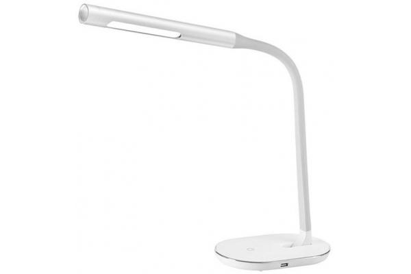 Solight LED stolní lampička stmívatelná, 8W, 4500K, USB, bílá