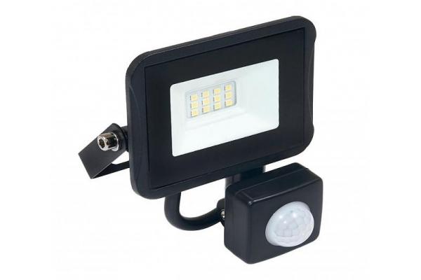 LED reflektor IVO s čidlem PIR - 10W - IP65 - 850Lm - studená bílá - 6000K