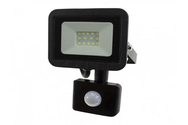 LED reflektor s čidlem PIR - 10W - 720Lm - studená bílá - 6000K - IP65