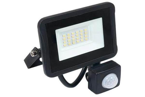 LED reflektor IVO s čidlem PIR - 20W - IP65 - 1700Lm - studená bílá - 6000K