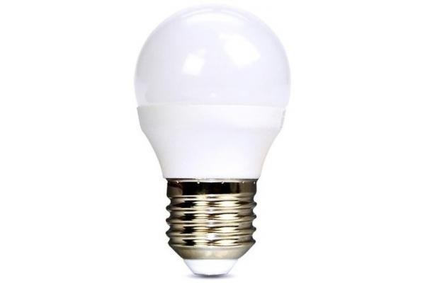 Solight LED žárovka, miniglobe,teplá bílá 6W, E27, 3000K, 510lm