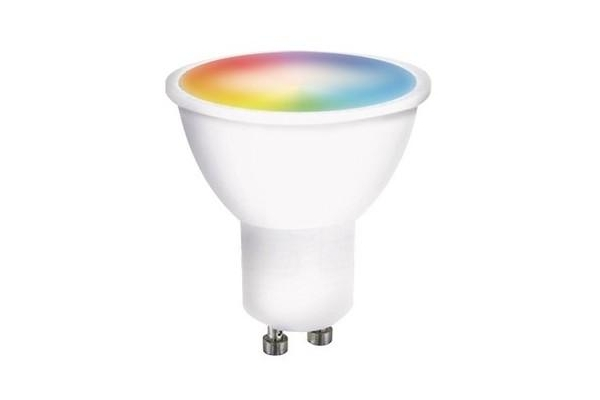 Solight LED SMART WIFI žárovka,vícebarevná GU10, 5W, RGB, 400lm