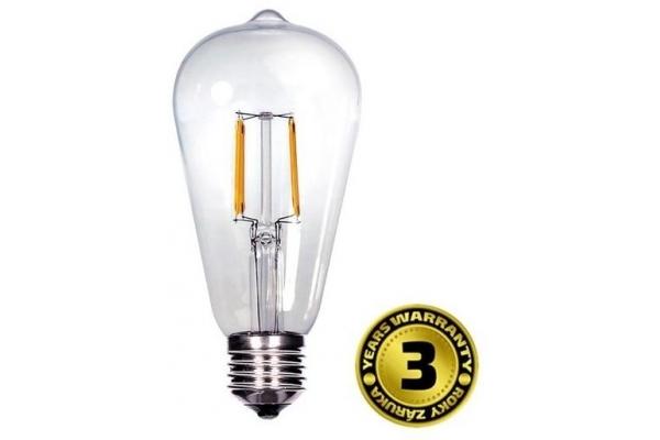 Solight LED žárovka retro,teplá bílá EDISON ST65, 8W, E27, 3000K, 360°, 810lm