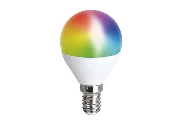 Solight LED SMART WIFI žárovka, miniglobe, 5W, E14, RGB, 400lm