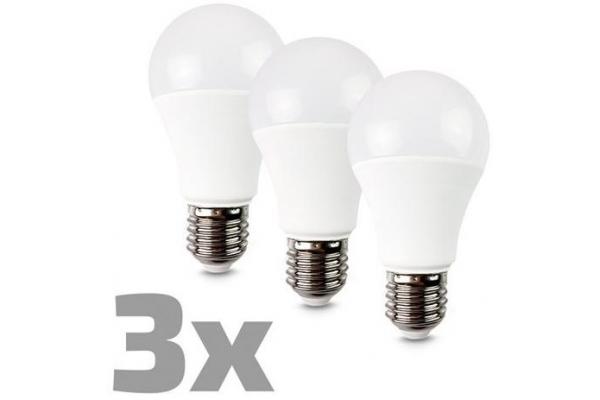 ECOLUX LED žárovka 3-pack, klasický tvar,teplá bílá 10W, E27, 3000K, 270°, 810lm, 3ks v balení