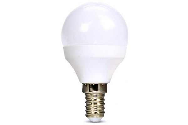 Solight LED žárovka, miniglobe, 6W, E14, 4000K, 510lm, neutralní bílá