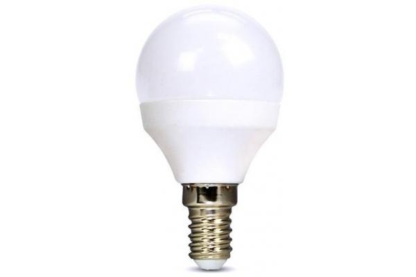 Solight LED žárovka, miniglobe, 8W, E14, 3000K, 720lm,teplá bílá