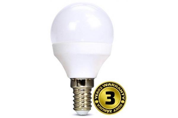 Solight LED žárovka, miniglobe,teplá bílá 4W, E14, 3000K, 310lm
