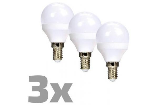 ECOLUX LED žárovka 3-pack , miniglobe,teplá bílá 6W, E14, 3000K, 450lm, 3ks